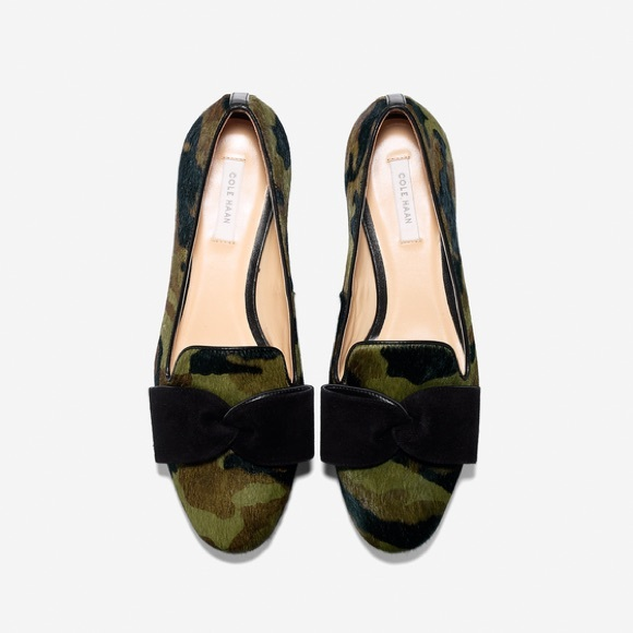 Cole Haan Camo Cindy Bow Loafers